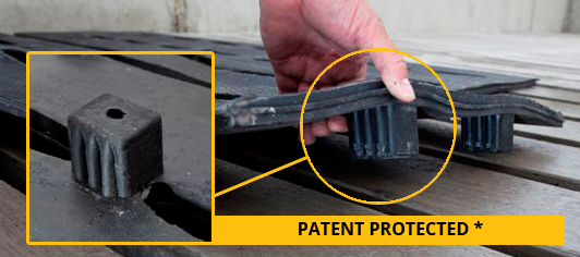 Slatted Rubber - Patent Protected